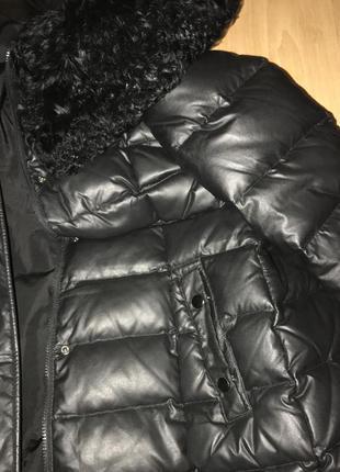Тёплая зимняя стёганная куртка. пуховик 44 размер !