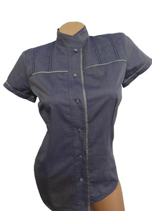 Качественная блуза/рубашка/тениска натуральная ткань latina