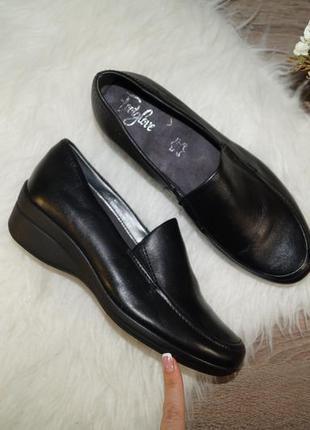 (37,5р./24,5см) footglove! кожа! фирменные базовые туфли на каждый день