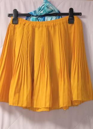 Нарядная плиссированная юбка,44-48,франция