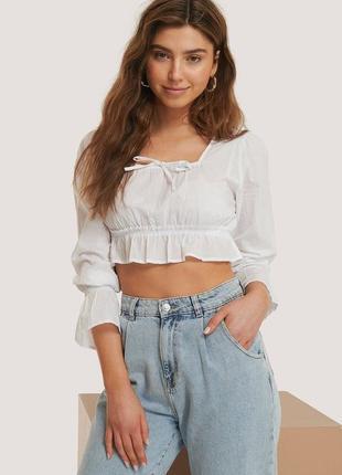 Блуза блузка топ с длинным рукавом бохо рюшами