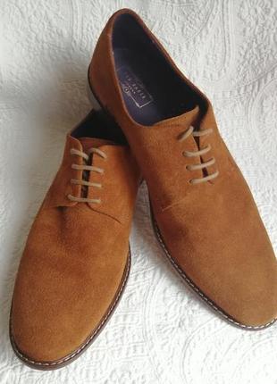 Мужские классические, замшевые туфли от бренда ted baker
