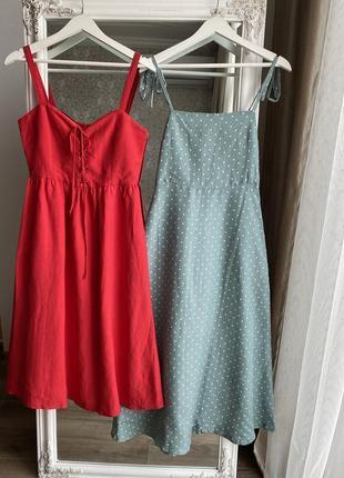 Новое супер красивое льняное платье, размер s,m