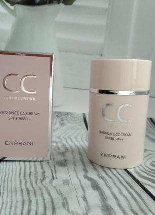 Сс крем премиум-класса с эффектом сияния и увлажнения enprani cc color control radiance cccream