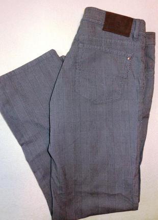 Джинсы брюки унисекс в клетку pierre cardin (оригинал) р.42 европ.