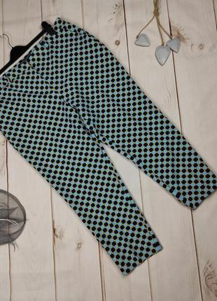 Штаны брюки новые красивые стрейчевые в принт uk 16/44/xl
