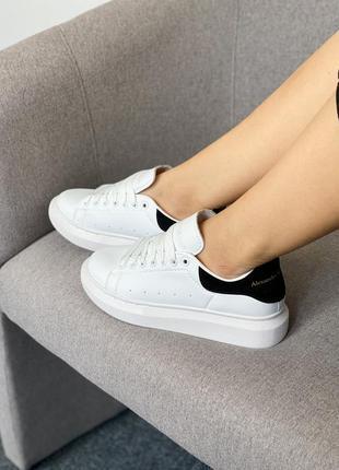 Женские кроссовки alexander mcqueen white/black скидка 36, 40 размер sale