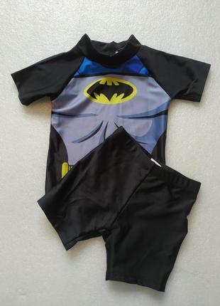 Купальный пляжный солнцезащитный костюм batman.