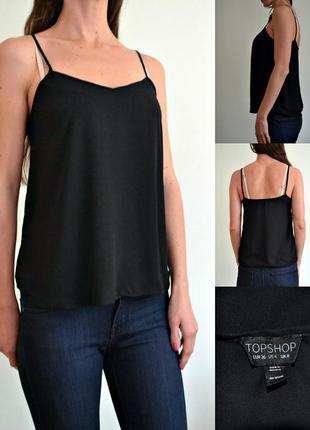 Базовая блуза на тонких бретелях