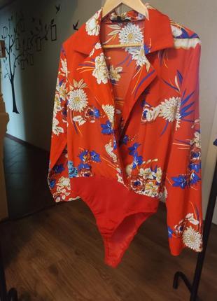 ❤финальная распродажа❤шикарный боди - блуза