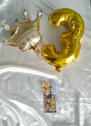 Декор для дня рождения(свечи шарики)