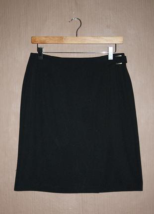 Классическая миди юбка асимметричного покроя №134