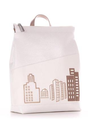 Белоснежный белый летний легкий рюкзак суперкачество украинский бренд 2021 коллекция