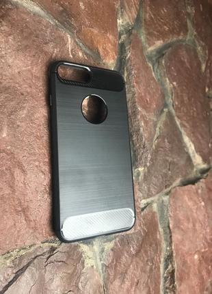 Чёрный силиконовый чехол для iphone 7 plus/ 8 plus