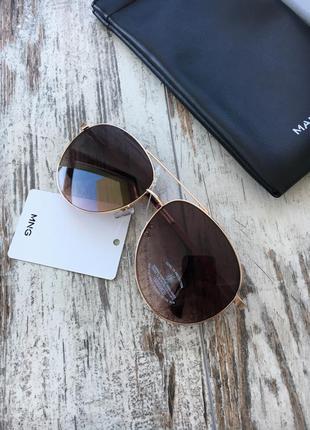 Новые солнцезащитные очки авиаторы с уф защитой от mango
