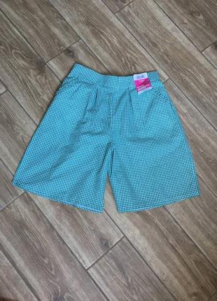 Лёгкие шорты на резинке, новые с биркой, хлопок, с карманами