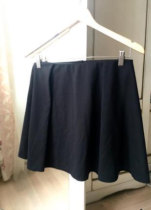 Юбка pull&bear l солнце черная мини юбка спідниця