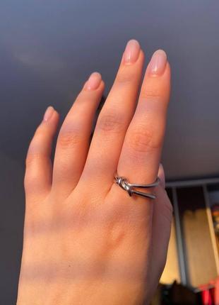 Серебряное кольцо размер регулируется