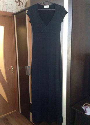 Оиригинальное вечернее платье в пол черного цвета бренда miss selfridge!!низкая цена!!