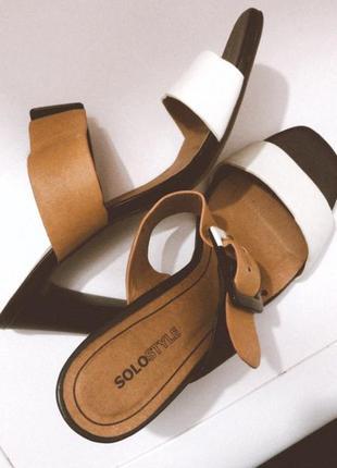 Шикарные трендовые мюли на высоком устойчивом каблуке
