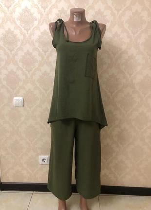 Женский летний костюм с кюлотами