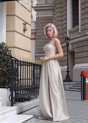 Вечернее платье 44 размер, длинное платье 42 размер, белое платье в пол ,