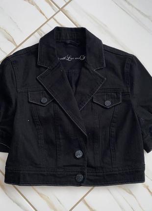 Джинсова  куртка болеро