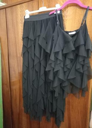Летний комплект юбка с топиком