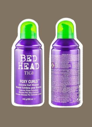Мусс пенка соль для вьющихся волос tigi bed head foxy curls extreme curl mousse 250мл