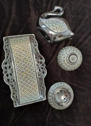 Подсвечники поднос керамика
