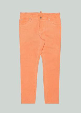 Модные джинсы dsquared2 distressed cool girl jean neon armani orange