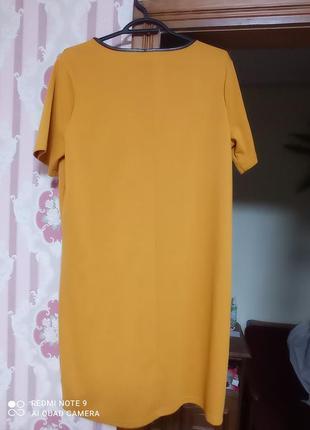 Красивое горчичное платье4 фото