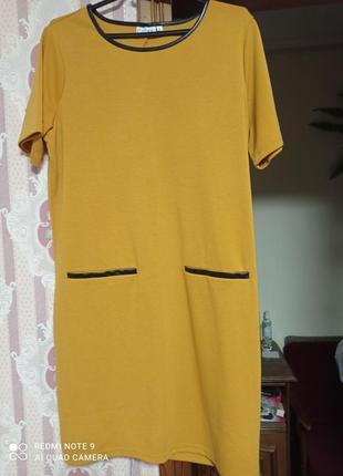 Красивое горчичное платье6 фото
