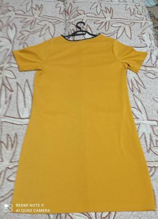 Красивое горчичное платье3 фото