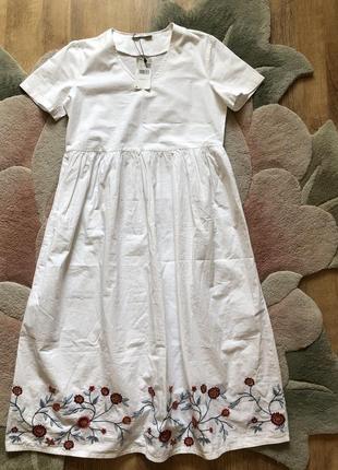 Шикарное хлопковое платье mango