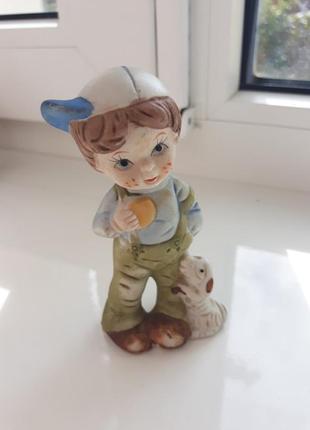 Статуэтка мальчик, статуетка хлопчик, фигурка, статуэтка, винтаж, италия