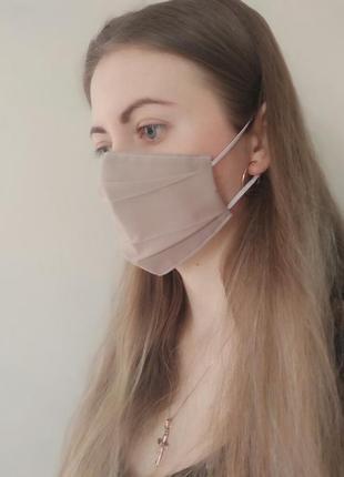 Многоразовая однотонная маска хб