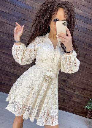 Платье хлопковое кружево