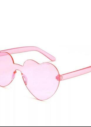 Очки сердце розовые