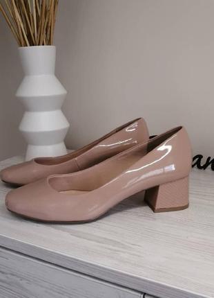 Шикарные нюдовые туфли лодочки