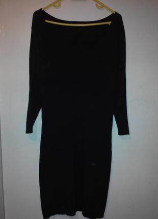 Черное платье mango(хлопок)
