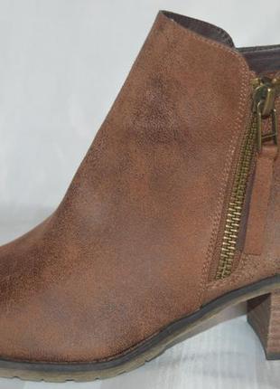 Ботильони черевики ботінки шкіра buffalo розмір 41 42, ботинки кожа