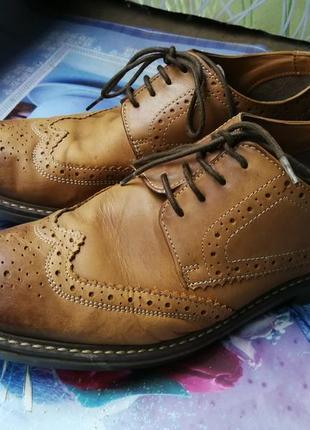 Мужские коричневые туфли броги morley