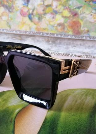 Эксклюзивные брендовые чёрные солнцезащитные очки унисекс millionaire 2021