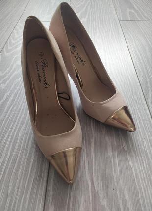 Нюдовые туфли-лодочки