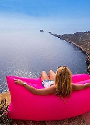 Надувний диван air sofa rose надувной шезлон