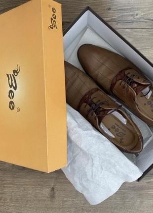 Мужские туфли натуральная кожа польша