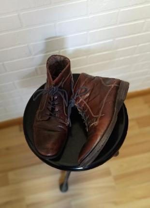 Ботинки мужские кожа.