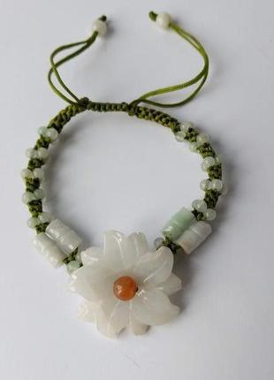 Нежный розсувной браслет цветок.😍 обхват минимально 18-19 см.