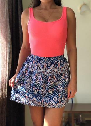 Новая хлопковая юбка guess h&m zara